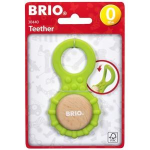 BRIO ブリオ BRIO ティーザー BRIOの赤ちゃんの木のおもちゃシリーズ。表と裏で2種類の手触りを感じることができる歯固めです。