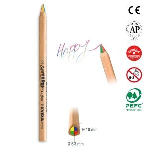 [メール便可] LYRA リラ社 Super FERBY スーパーファルビー 色鉛筆 4in1 12本入り 〜ドイツ・LYRA(リラ社)の三角グリップの長さ17.5cm