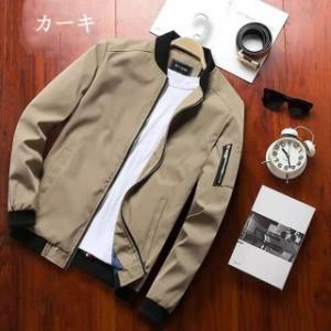 cfbfcfc4c59055 メンズ ジャケット ミリタリージャケット フライトジャケット スプリングジャンパー 立て襟 防風 春物ジャケット おしゃれ 20代30代40代