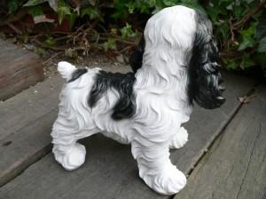 犬の置物 コッカスパニエル おまけ付 いぬ イヌ 動物 684H ガーデン オーナメント 犬/置物 ガーデニング 庭 陶器 オブ