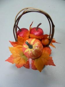 ハロウィン パンプキンアップルアレンジ 3540 オーナメント 造花 花束 シルクフラワー 装飾 ハロウィングッズ 飾り 置物