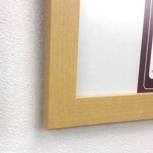 日本製パネルフレーム/ポスター額縁 【B3/内寸:515x364ナチュラル】 壁掛けひも・低反射フィルム付き「5901くっきりパネルB3」