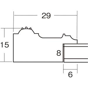 水彩額/水彩画額縁 【水彩F4 グリーン】 縦41.3cm×横51.2cm×高さ2.9cm 表面カバー:ガラス 紐用金具付き 木製