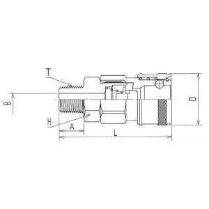 ヤマトエンジニアリング BLY46-SM-P 鋼鉄BLYカプラ/ソケット(パック入リ)