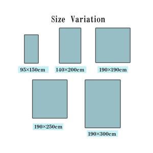 ラグ カーペット 無地 シンプル バンブー 竹 『DXフォース』 グレー 約190×190cm