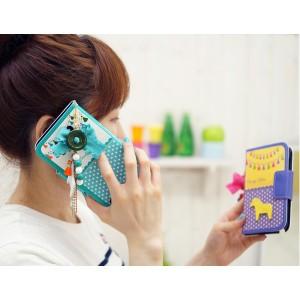 MrH(ミスターエイチ)スマホウォレットケース/キャンディホースホワイトByiphone6s
