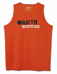 バスケットノースリーブ タンクトップ ウェア   アクター AKTR BOOTLEG LOGO MESH TANK ORANG