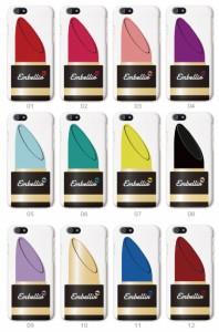 スマホケース ハードケース Lipstick リップスティック デザイン Embellir アンベリール ビューティー Cosme コスメ 女子 GIRLY ガーリー