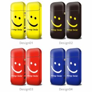 iQOS シール 全面 デコ アイコス ケース 2.4 plus 対応 カラフル デザイン ニコちゃん スマイル ニコニコ Smile