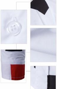 メンズ 春夏秋 シャツ かっこいい カジュアルシャツ チェック柄 長袖 シンプル 大きいサイズ 白 折り襟 ホワイト ファション
