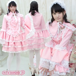 1160C★MB【送料無料・即納】 マリアドレスピンク 色:ピンク サイズ:M/BIG 可愛い ワンピース フリル