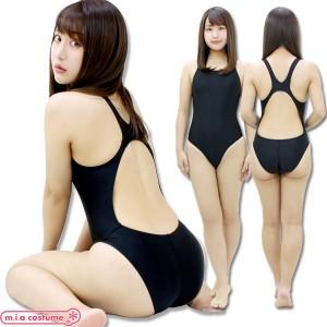 1234C■MB【送料無料・即納】 競泳水着 色:黒 サイズ:M/BIG