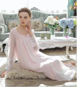 長袖 お姫様 宮廷風 パジャマ レディース 部屋着セクシー ルームウェア 大きいサイズ ネグリジェ 姫系 ワンピース