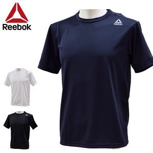 リーボック reebok メンズ Tシャツ 半袖 水陸両用 UVカット 紫外線対策 シンプル ワンポイントTシャツ 429-777 429777 メール便も対応