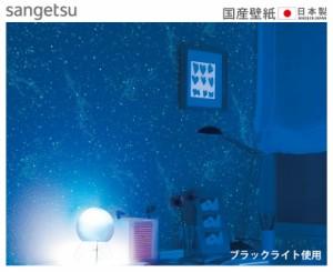 【 壁紙 のり付き DIY】 壁紙 のりつき クロス 蓄光 星 夜空 宇宙 防かび  サンゲツ FE-1372