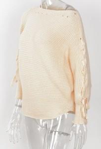 ※お取り寄せ ニットセーター ゆるカワ 薄手 春コーデ カジュアル リボン袖