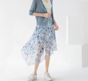涼し気な上品スカート ik-0188