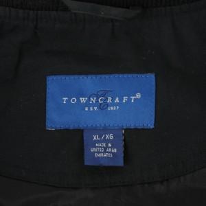 【 USED 】 TOWN CRAFT タウンクラフト ダービージャケット ブラック メンズ XL 古着 スウィングトップ ブルゾン 大き目サイズ