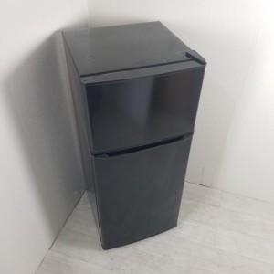 中古 130L 2ドア冷蔵庫 ハイアール ブラック JR-N130A-K 2019年製 小型 一人暮らし 単身用 送料無料 3ヶ月保証付