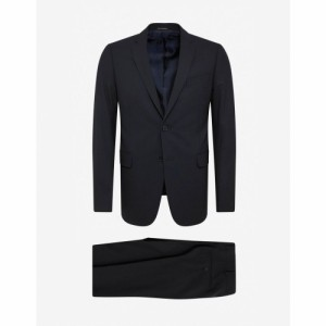 アルマーニ Emporio Armani メンズ スーツ・ジャケット アウター Navy Blue Wool-Blend Two-Button Suit Blue