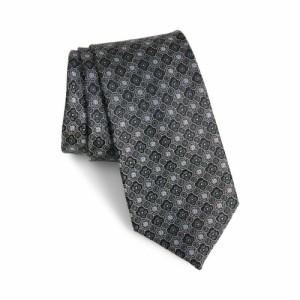 ノードストローム NORDSTROM MENS SHOP メンズ ネクタイ Malia Micro Medallion Silk Tie Black