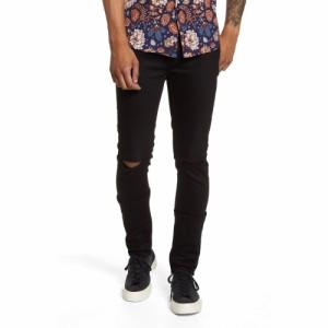 トップマン TOPMAN メンズ ジーンズ・デニム リップドジーンズ ボトムス・パンツ Ripped Skinny Jeans Black