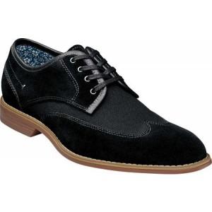 ステイシー アダムス Stacy Adams メンズ 革靴・ビジネスシューズ ウイングチップ シューズ・靴 Wickley Wing Tip Oxford Black/Canvas