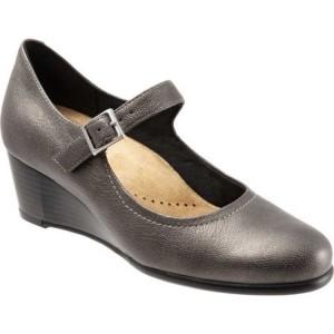 トロッターズ Trotters レディース シューズ・靴 Willow Mary Jane Wedge Pewter Leather