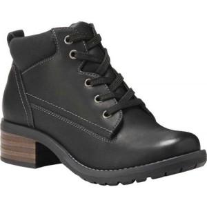 イーストランド Eastland レディース ブーツ ショートブーツ シューズ・靴 Bandana Ankle Bootie Black Tumbled Synthetic