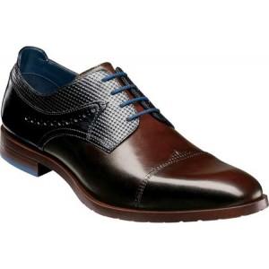 ステイシー アダムス Stacy Adams メンズ 革靴・ビジネスシューズ シューズ・靴 Raiden Cap Toe Oxford Brown/Blue Smooth/Textured