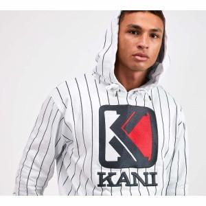 カール カナイ Karl Kani メンズ パーカー トップス pinstripe hooded top White