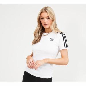 アディダス adidas Originals レディース Tシャツ トップス 3-stripes t-shirt White/Black