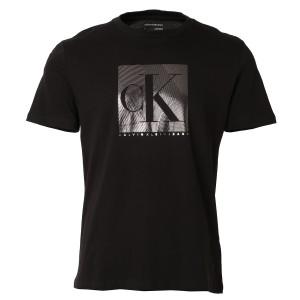 【即納】カルバンクライン Calvin Klein メンズ Tシャツ トップス SS MONOGRAM FOIL BLOCKED CREWNECK TEE BLACK クルーネック 半袖Tシャ