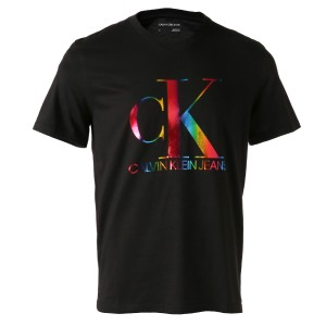 【即納】カルバンクライン CALVIN KLEIN メンズ Tシャツ トップス SS Monogram Pride Crewneck Tee BLACK モノグラムロゴ クルーネック