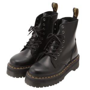 【即納】ドクターマーチン Dr. Martens レディース ブーツ シューズ・靴 Jadon 8 Eye Boots BLACK サイドジップ コンバットブーツ 8ホー