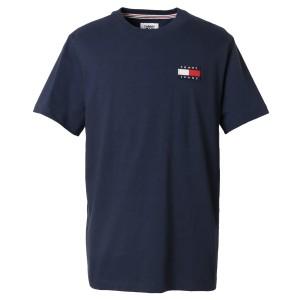 【即納】トミー ヒルフィガー Tommy Hilfiger メンズ Tシャツ トップス TJ ALBIE BADGE TEE 78F0203 002 BLACK IRIS フラッグロゴ クルー