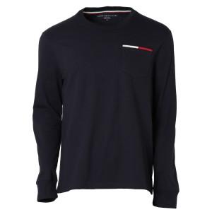【即納】トミー ヒルフィガー Tommy Hilfiger メンズ 長袖Tシャツ トップス ICON POCKET L/S TEE 78F0163 SKY CAPTAIN ポケット  ロンT