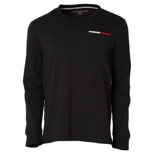 【即納】トミー ヒルフィガー Tommy Hilfiger メンズ 長袖Tシャツ トップス ICON POCKET L/S TEE 78F0163 BLACK ポケット ポケT ロンT フ