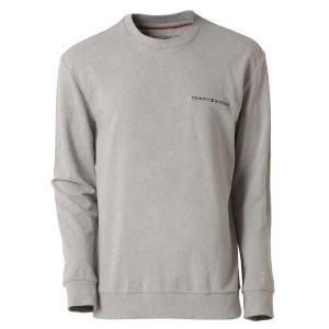【即納】トミー ヒルフィガー Tommy Hilfiger メンズ 長袖Tシャツ トップス COOL COMFORT CREW NECK GRAY HEATHER ロンT ロングT ロゴ プ