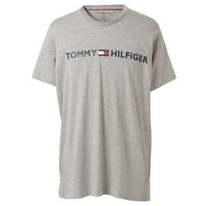【即納】トミー ヒルフィガー Tommy Hilfiger メンズ Tシャツ トップス CREW TEE 09T3928 GREY HEATHER 半袖 ロゴプリント クルーネック