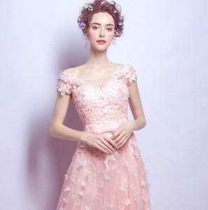 カラードレス 二次会 ロング丈 パーティードレス  花嫁 お呼ばれ コンサートドレス ステージ衣装 結婚式 舞台衣裝 司会者 披露宴