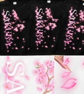Tシャツ メンズ キッズ 春 桜 さくら 宴会 花見 イベント 半袖 長袖 tシャツ アメカジ ブランド 桜花-SAKURA-