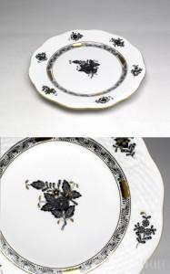 ヘレンド ANG アポニーブラック 517/0/00 プレート 19cm 【お皿】