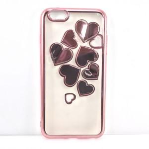 191f579234 【iPhone6sPlus ピンク】ソフトケース カバー キラキラ 3Dハート iPhone アイホン スマホ 全3色展開