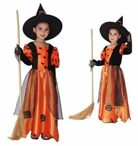 96bba3a1ccc7f2 魔女コスプレ 子供用 ハロウィン コスチューム Halloween 子供 キッズ ハロウィン キャラクター 小悪魔 妖精 魔女 お姫様