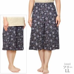 綿揚柳キュロットスカート シニアファッション ミセス ハイミセス 大きいサイズ