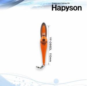 ハピソン  赤色発光ラバートップミニウキ電気ウキ  赤  YF-066DL  Hapyson◆