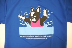 即納★ synchronized swimming junky/シンクロナイズドスイミングジャンキー 犬かき+2 ポリTシャツ