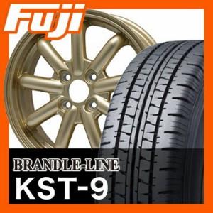 145R12 6PR■BRANDLE-LINE ストレンジャーKST-9 (ゴールド) 3.50-12■ダンロップ エナセーブ VAN01 6PR サマータイヤ ホイールセット