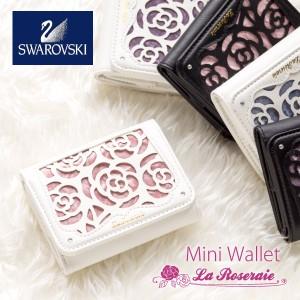 財布 レディース 三つ折り財布 コンパクト ミニ財布 おしゃれ 三つ折り 小さい財布 かわいい 花柄 バラ柄 ショートウォレット ギフト プ